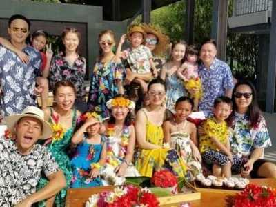 韩庚和陈小春 几家人难得相聚度假气氛超浓