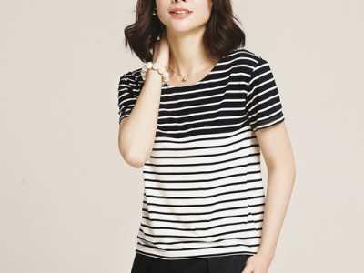 短袖条纹衫的搭配图片 条纹衫值得精挑细选